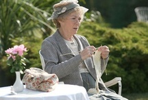 Miss Marple knits & other celebrities / I love Agatha Christies Miss Marple - the last incarnation of her she wore gorgeous knits.  But there are only so many, so other actresses who wear or are caught knitting will get on this board too!