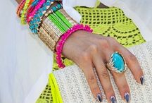 STYLE IDEA: Neon accents  / Inject flashes of sweet summery neon to your outfit with acid accents and accessories.