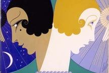 Erté Graphic Art  / Erté (Romain de Tertoff) Art Deco poster design! / by Franco Vallelonga