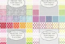Digital papers / Scrapbooking and printables backgrounds