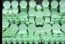 Jadeite Obsession / Jadeite - Jade-ite - Fire King - Jeanette - any way you spell it, I Love it!! / by Laurie Rued
