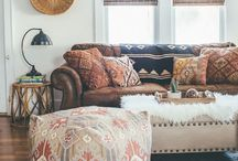 She dreams of a boho home / It may not be my reality but I've always found a boho home pretty dreamy. Floor pillow, pattern, prints from around the world all combined to make a perfect combo!