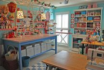 A Place to Create / Crafting, Sewing, and Office Spaces Storage and Organizational Ideas / by Cathy Donaldson