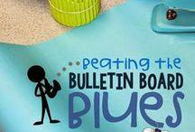 BULLETIN BOARD DECOR / Bulletin Board ideas for the classroom & doors