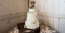 Wedding Cakes at Barn at Boones Dam / 2014 and 2015 Wedding cakes at the Barn at Boone's Dam
