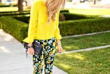 It's Bananas...B-A-N-A-N-A-S / yellow fashion / by Courtney Scarbin