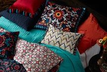 Mexico City Collection / The Blissliving Home Spring 2015 Collection was inspired by Mei Xu's travels in Mexico City and includes bedding, duvets, comforters, coverlets, throws, blankets, decorative pillows, and other awesome items for the home.