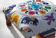 Mexico City Inspired / Inspired by the Magic that is Mexico City. Mexican Embroidery, Mexican Patterns, Mexican Prints, Mexican Home Decor, Mexican Interiors Mexican Fashion, Otomi, Otomi Style, Aztec Style, Aztec Inspired.