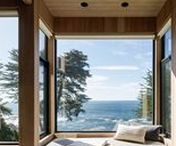 Windows / Modern windows have the vital task of connecting your home with the outside world. Bringing in air and light, they provide opportunities for contemplation when arranged above a dining nook, or a portal to the natural world when overlooking an oceanside scene. Framed with wood, metal, or vinyl, these inspiration window designs range from skylights to picture windows.