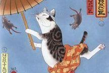 #Bakeneko, #Nekomata / #Japanese #Mythology.