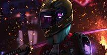 cyberpunk / cyberpunk in big nigh city