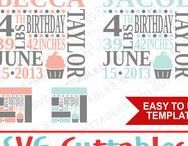 Birthday svg cut files / Birthday cut files svg, eps, dxf, png, Silhouette Cameo, Silhouette, Cricut, Cricut Design Space, svg cutting files, vectors, templates, svg cuttables, vinyl cutter, decals, t-shirt designs, svg cut files