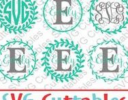 Monogram Frames svg cut files / Monogram frames cut files svg, eps, dxf, png, Silhouette Cameo, Silhouette, Cricut, Cricut Design Space, svg cutting files, vectors, templates, svg cuttables, vinyl cutter, decals, t-shirt designs, svg cut files
