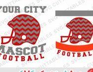 Football svg cut files / Football cut files for cutting machines like silhouette Cameo or Cricut.