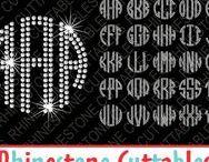 Rhinestone Fonts svg cut files / Rhinestone fonts cut files for cutting machines like silhouette Cameo or Cricut.