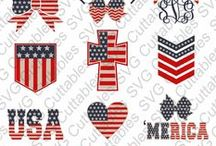 4th of July - fourth of July - svg cut files / fourth of july cut files for cutting machines like silhouette Cameo or Cricut.