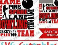 Bowling svg cut files / Bowling cut files for cutting machines like silhouette Cameo or Cricut.