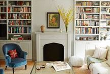 Spaces: Living / I liked well-traveled homes with heaps of books.  / by Meg Dowdy
