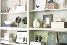 Decorating  / ideas for styled bookshelves, tables scapes and other decorating activities