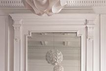 Millwork / Interior details. Cases, crown molding, trim, railings, fretwork, and other interior architecture