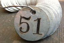 Vintage typography, numbers & signage