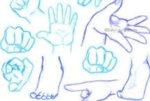 Drawing Tips and References - Hands and Feet / by Elizabeth S.