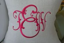 Monograms Fonts Embroidery / All about embroidery monograms