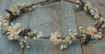 Hair Crowns / Dried Flower Hair Crowns for Weddings and Festivals