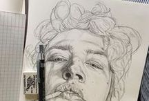 art and sketches / for when you want to cry and compare your shitty paintings to good and meaningful pieces of art