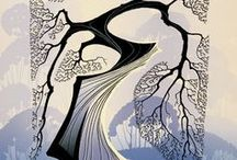 ARTISTEyvind Earle / Eyvind Earle (April 26, 1916 – July 20, 2000) was an American artist, author and illustrator, noted for his contribution to the background illustration and styling of Disney animated films in the 1950s.