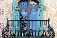 """ArtNouveau STYLE / Art Nouveau is an international philosophy and style of art, architecture and applied art—especially the decorative arts—that were most popular during 1890–1910. The name """"Art Nouveau"""" is French for """"new art"""".  A reaction to academic art of the 19th century, it was inspired by natural forms and structures, not only in flowers and plants but also in curved lines. Architects tried to harmonize with the natural environment."""