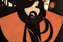"""ARTISTWill Bradley / William H. Bradley (1868–1962) was an American Art Nouveau illustrator and artist. Nicknamed the """"Dean of American Designers"""", he was the highest paid American artist of the early 20th century.  His artistic style is considered a branch of Art Nouveau, (where he was considered the foremost illustrator and poster designer of this movement) though it draws heavily from the aesthetics of the Arts and Crafts Movement and Japanese block printing."""