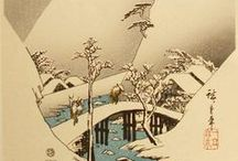 ARTISTUtagawa Hiroshige / Utagawa Hiroshige (1797 – 1858) was a Japanese ukiyo-e artist, and one of the last great artists in that tradition. He was also referred to as Andō Hiroshige (安藤 広重) (an irregular combination of family name and art name) and by the art name of Ichiyūsai Hiroshige.  Legend has it that Hiroshige determined to become a ukiyo-e artist when he saw the prints of his near-contemporary, Hokusai. During Hiroshige's time, the print industry was booming, and the consumer audience for prints was growing.
