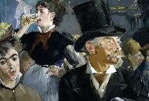 ARTISTÉdouard Manet / Édouard Manet (1832 – 1883) was a French painter. One of the first 19th-century artists to approach modern and postmodern-life subjects, he was a pivotal figure in the transition from Realism to Impressionism.  His early masterworks, The Luncheon on the Grass (Le déjeuner sur l'herbe) and Olympia, engendered great controversy and served as rallying points for the young painters who would create Impressionism. Today, these are considered watershed paintings that mark the genesis of modern art.