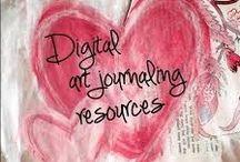 Digital Art Journaling Resources / Art journaling, digital scrapbooking, free printables, and the like / by Bard Judith