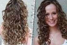 Hair color & cut by me. / My salon work Makeover, Corrective color, Highlights, balayage, ombre, curly haircut