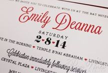 Our Bat Mitzvah Invitations / Our custom bar/bat mitzvah invitations, save the dates, giveaways and more.