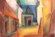ARTISTLyonel Feininger / Lyonel Charles Feininger (1871–1956) was a German-American painter, and a leading exponent of Expressionism. He also worked as a caricaturist and comic strip artist. He designed the cover for the Bauhaus 1919 manifesto: an expressionist woodcut 'cathedral'. He taught at the Bauhaus for several years.
