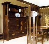 DESIGNERCharles Rennie Mackintosh / Charles Rennie Mackintosh (1868-1928) was a Scottish architect, designer, water colorist painter and graphic artist. He was a designer in the post impressionist movement and also the main representative of Art Nouveau in the United Kingdom. He created entire buildings--foundation to plumbing--to designing textiles, jewelry and stained glass.  Although Mackintosh considered himself a failure and died in obscurity in London, the Art Nouveau adherent is now regarded as a pioneer of modernism.