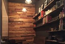 Reclaimed Walls - Barn Wood & Pallet Wood / Reclaimed walls using barnwood and pallet wood By Revival Wood Works