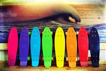 Skating / Roller skates and skate boards.