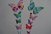 Handmade marbled/Ebru paper , used for scrapbooking embellishments / by Susan Tümkaya