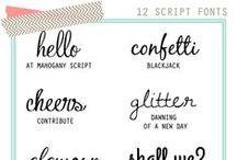 Typography | Fonts | Word Art