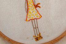 Hoop art and all things hoopy / Hoop art and embroidery  / by Susan Tümkaya