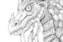 Line_Art_mythological creatures