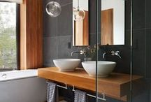 Rooms // Bathrooms / Bathroom inspirations, all styles, all colors - just beautiful