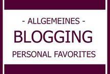 BLOGGING I Allgemeines