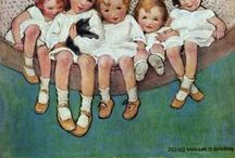 Illustration IX / Jessie Willcox Smith (1863 - 1935) was a prominent artist in the United States during the Golden Age of American illustration. She is best-known for her paintings of children.