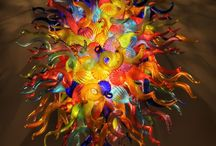 End of The Day Hand Blown Glass Chandelier Love