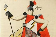 Alexandra Exter / Russian avant-garde designer Alexandra Exter (1882–1949) produced innovative costumes and stage designs for the theatre, the ballet, and experimental films in Russia and France. She also created paintings and illustrations.